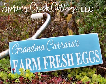 Personalized, Chicken Coop Signs, Custom Signs, Wood Signs, Farm Fresh, Fresh Eggs, Farmhouse Decor, Handpainted, Rustic Sign, Modern Rustic