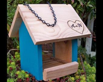 Wedding Gift, Personalized, Rustic Bird Feeders, Non-Toxic, Eco-Friendly, Feeders, Cedar Feeder, Hand Crafted Feeder, Housewarming Gifts!