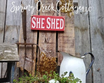 Signs, She Shed, Wood Sign, Handpainted, Mothers Day Gifts, Garden Sign, Garden Decor, Farmhouse Decor, Country Decor, Rustic, Gifts For Her
