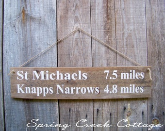 Destination Signs, Custom, Coordinates, Signs, Personalized, Distance Signs, Handpainted, Mileage Signs, Rustic, Wood Signs