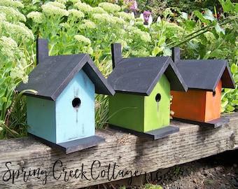 Nest Boxes, Bird Houses, Modern Rustic, Handmade, Coastal Living, Beach House Decor, Cottage Decor, Home Decor, Garden Accents