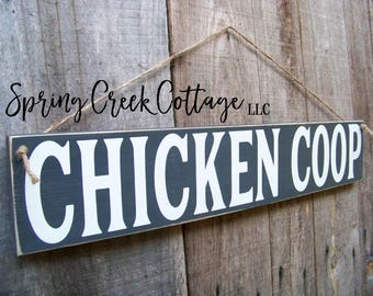 Chicken Coop Signs, Chicken Coop Decor, Rustic, Signs, Farm Decor, Handpainted Signs, Home and Living, Farmhouse Decor, Chickens, Wood Signs