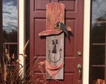 Primitive Scarecrows, Halloween, Fall Decor, Handpainted, Rustic Farmhouse Decor, Door Decor, Autumn, Porch Decor, Home Decor, Thanksgiving