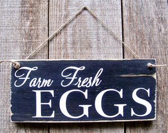 Chicken, Farm Signs, Farm Fresh Eggs, Farmhouse Decor, Hand-painted, Chicken Coop, Wood, Rustic Farmhouse, Handpainted Wood Signs