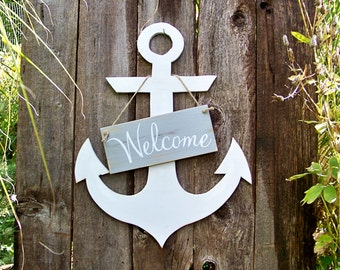 Rustic Coastal Decor, Signs, Anchor Signs, Handmade, Coastal Living, Home Decor, Wood Signs, Beach, Door Decor, Porch Decor