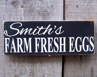 Eggs, Chicken, Personalized Signs, Farm Fresh Eggs, Farmhouse Decor, Handpainted, Chickens, Coop Signs,  Country, Farm