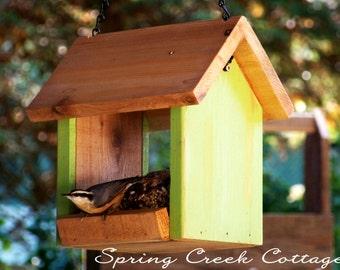Rustic Bird Feeders, Non-Toxic, Eco-Friendly Bird Feeders, Cedar Feeder,  Hand-Crafted, Hanging Feeder , Pacific Northwest, Home and Garden