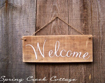 Wood Signs, Welcome, Hand-painted Signs, Farmhouse Decor, Northwest Living, Home Decor, Reclaimed, Pallet Sign, Rustic
