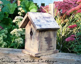 Nest Boxes, Bird Houses, Shabby Chic, Cedar Bird House, Handmade, Cottage Chic, Home Decor, Home & Living, Garden Accents