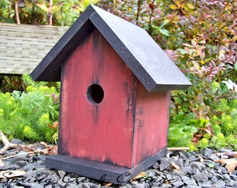 Nest Box, Bird House, Cedar Bird House, Handmade, Rustic, Home Decor, Farmhouse Decor, Housewarming Gifts, Farmhouse Decor, Garden Accents
