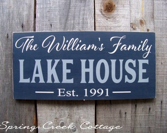 Personalized Custom Wedding Signs, Established Signs, Personalized Signs,  Lake House Signs, Handpainted, Housewarming Gifts