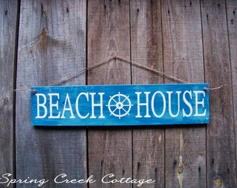 Uniquely Handpainted Signs, Beach House, Beach House Decor, Beach, Wood Signs, Hand-painted, Coastal Decor, Rustic