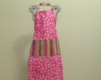 Child's 9/10 Apron Pink  (# 455 ) Free shipping