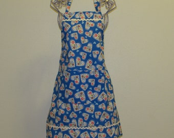 Child's 7/8 Apron Blue (# 457) Free shipping