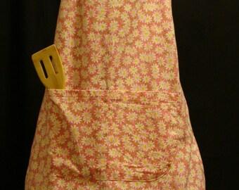 Medium or Large Adult Apron  daisy pattern (#106) (#106B)