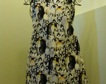 Child's 5/6 Penguin apron (# 593 ) Free shipping