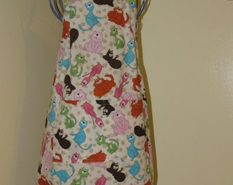 Child's 7/8 Apron  Cats  (# 353 ) Free shipping