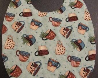 Small Adult Clothing Protector/Bib Coffee Mug pattern ( #686 )