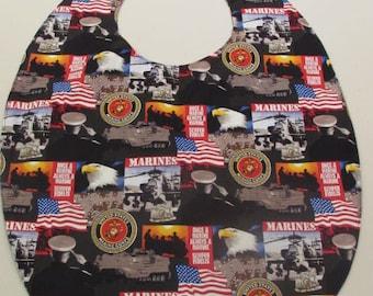 Small Adult Clothing Protector Bib  US Marines pattern (#695)