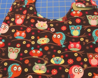 Small Owl/Clover Adult Clothing Protector Bib (#538)