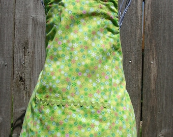 Child's 5/6 Apron green(#230) Free shipping