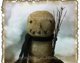 ePattern Primitive Winter Snowman Pin Keep Sewing Pattern PDF File Instant Download!