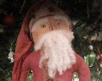 ePattern~Primitive Santa Stump Doll Sewing Pattern PDF File