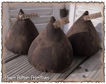 ePattern~Primitive Valentine's Chocolate Kisses Sewing Pattern, PDF File
