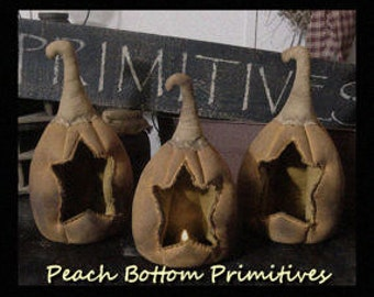 MAILED PATTERN~Primitive Carved Star Pumpkin Luminary Paper Pattern