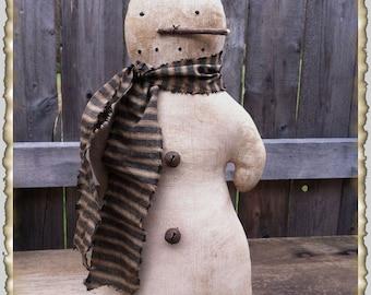ePattern~Christmas Winter Never Melt Snowman Doll