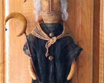 ePattern~Unwickedly Witch Door Doll with Moon Wand~Halloween