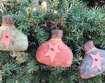 ePattern~Primitive Christmas Ball Tree Ornaments Sewing Pattern, PDF File, Instant  Digital Download