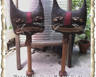 ePattern~Primitive Grungy Cat Make-Do