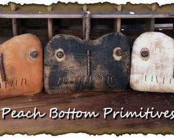 MAILED PAPER PATTERN~Halloween Extreme Pumpkin Jack Tucks, Bowl Fillers Sewing Pattern