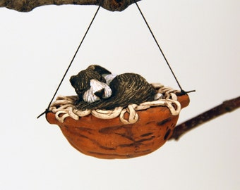 sleeping dutch bunny ornament