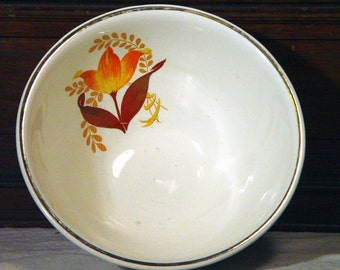 Bakerite 1940s orange tulip over-safe pie plate