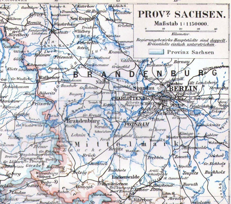 Map Saxony Sachsen State Province Germany Edwardian 1903 Antique Steel  Engraving Cartography To Frame