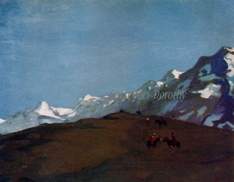 Snow Clad Andies Chile South America A S Forrest 1910 Lithograph To Frame