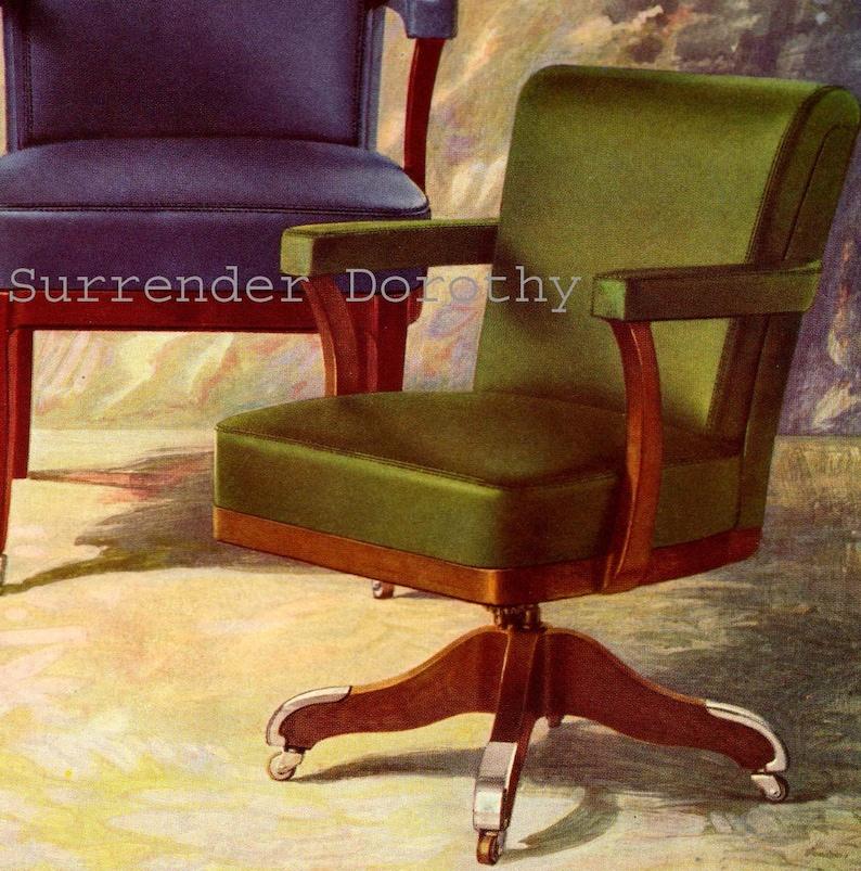 Aluminium Trim Büro Stühle 1920er Jahre Art-Deco-Möbel Werbung   Etsy