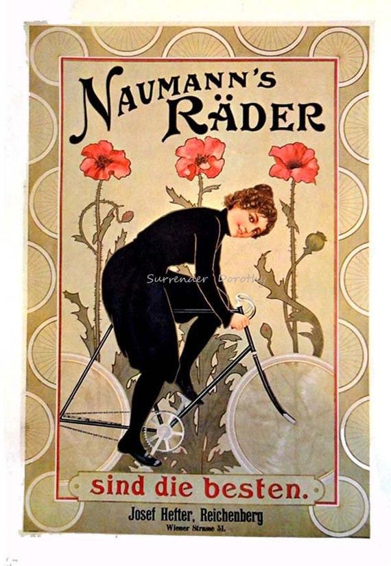 Vintage Belgium Lady Cycles Automobile 1898 Advertisment Poster Art Print A3 A4