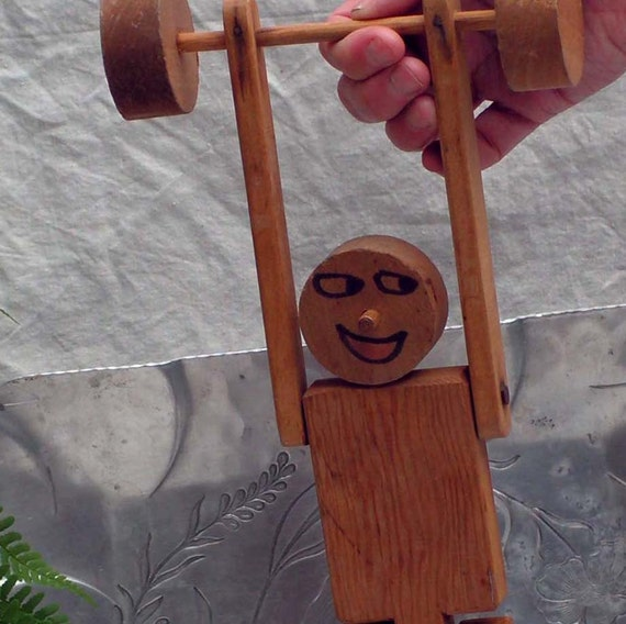 wood acrobat puppet man toy country workshop made in maine