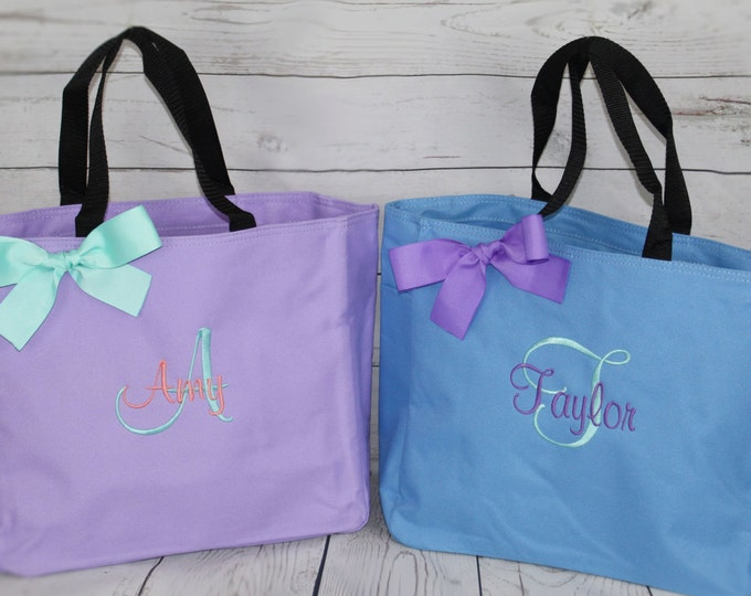 Personalized Cheer Dance Beach Bridesmaid Gift Tote Bag Monogrammed Tote, Bridesmaids Tote, Personalized Tote, Cheer Bag, Name Tote