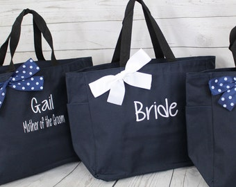 16 Personalized Bridesmaid Gift Tote Bags Personalized Tote, Bridesmaids Gift, Monogrammed Tote