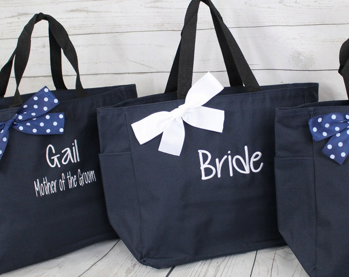 Set of 16 Personalized Bridesmaid Gift Tote Bags Personalized Tote, Bridesmaids Gift, Monogrammed Tote (ESS1)