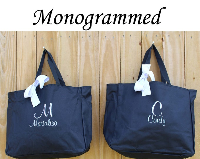 Personalized Bridesmaid Gift Tote Bag Personalized Tote, Bridesmaids Gift, Monogrammed Tote