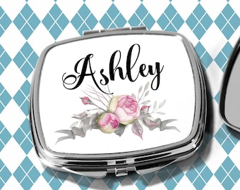 Bridesmaids Gifts, Personalized Bridesmaid Gift, Personalized Compact Mirror, Monogrammed Mirror design1115