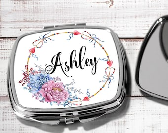 Bridesmaid Mirror Compacts Personalized Bridesmaid Gifts Mother of the Bride Compact Mirror Personalized Gifts for Friends hb2