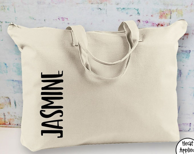 Personalized Weekender Bag/ Zipper Tote/ Bridesmaid Gift/ Wedding Party Gift