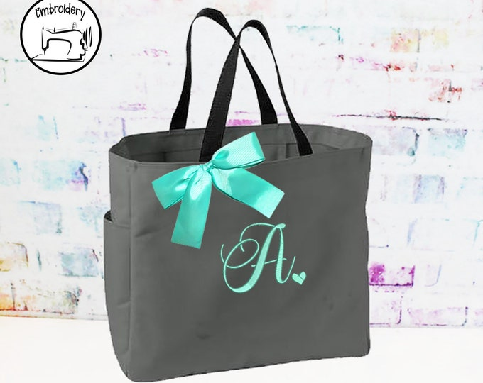 Personalized Tote Bags Personalized Tote, Bridesmaids Gift, Monogrammed Tote,