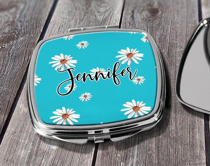 Compact Mirror, Bridesmaids Gifts, Personalized Bridesmaid Gift, Personalized Compact Mirror, Monogrammed Mirror design COM3